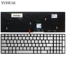 US Laptop Keyboard For ASUS GL702 GL702VT GL702VM silver 0KNB0-662LUS00 AEBK5U00030 English keyboard with Backlight