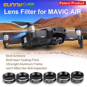 Image 1 - Sunnylife MCUV CPL ND4 ND8 ND16 ND32 filtre dobjectif pour DJI MAVIC filtres à AIR polariseur UV et cardan couvercle dobjectif de caméra capot solaire