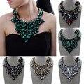 Joyería de moda de Cristal de la Cadena Declaración Gargantilla Colgante Collar Babero