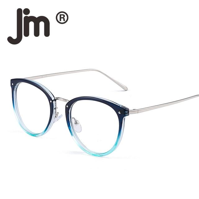 2f81623813 JM Fashion Designer Cat Eye Glasses Round Optical Frame Rx-able Non-Prescription  Eyeglasses Women