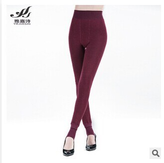 Free shipping 2016 winter collection 350 g seven colored cotton and wool with thick warm pants leggings