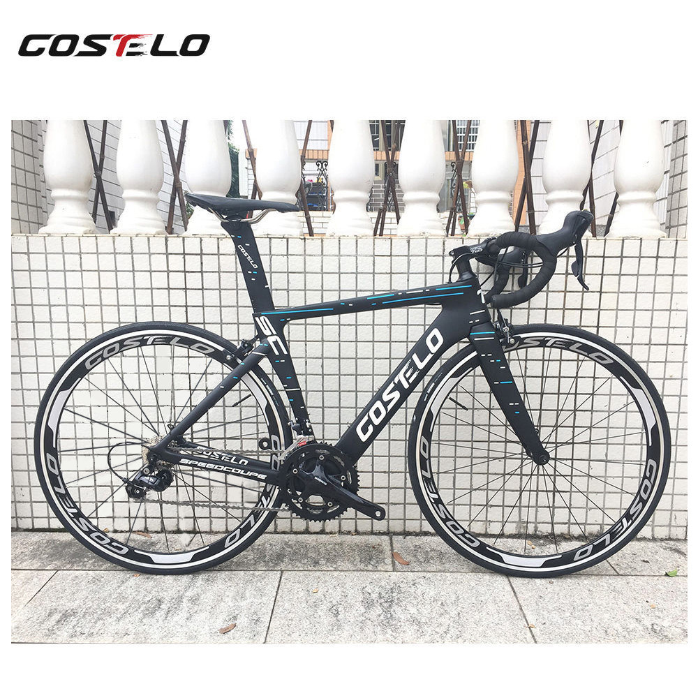 NEW Costelo Speedcoupe carbon fiber road bike frame complete road bicycle with wheels group handlebar stem cheap bike(China)