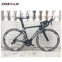 NEW Costelo Speedcoupe carbon fiber road bike frame complete road bicycle with wheels group handlebar stem cheap bike