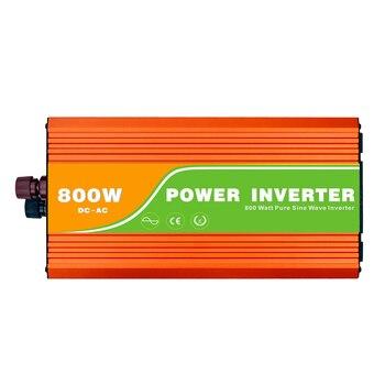 Digital 24VDC (21-30V) 800W Off Grid Inverter to 100-240VAC Ouput, Surge 1600W Pure Sine Wave Solar Wind Inverter with USB