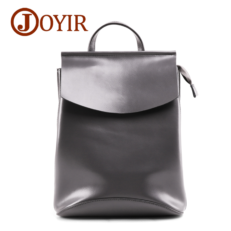 JOYIR Genuine Leather Women Backpack Leather Ladies Fashion Backpacks Travel Party Rucksack Shoulder School Bags for Teenagers fashion women leather backpack female backpacks school bags for teenagers girls daily backpack travel shoulder rucksack feminina