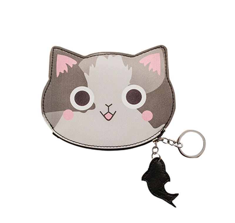 New Cute Cat Face Zipper Case Coin Purse Female Wallet Child Purse Makeup Buggy Bag Pouch Key Holder Reasonable Price Luggage & Bags
