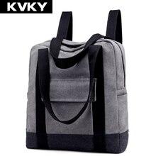 Kvky бренд холст Для женщин Рюкзаки школьные Сумки на плечо высокое качество Повседневное путешествия Для мужчин ноутбук рюкзаки Mochila Feminina