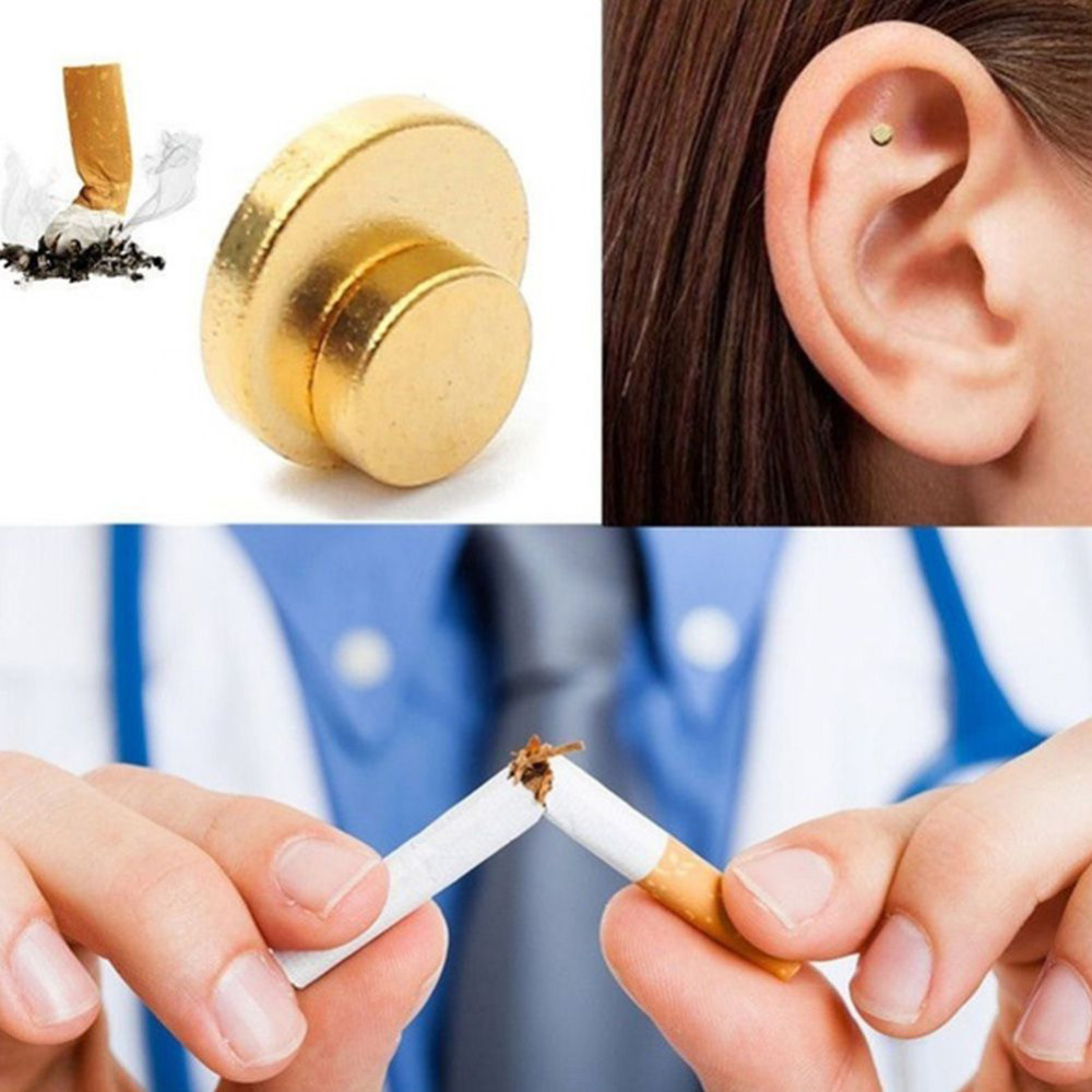 2PCS Quit Smoking Magnet Auricular Acupressure Patch Not Cigarettes Health Therapy Smoking Anti Smoke Patch Health Care