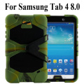 For Samsung Galaxy Tab 4 8.0 T330 T331 T335 Shockproof Armor Hybrid Kickstand Case Cover W/ Bulit-in Front Protective Film