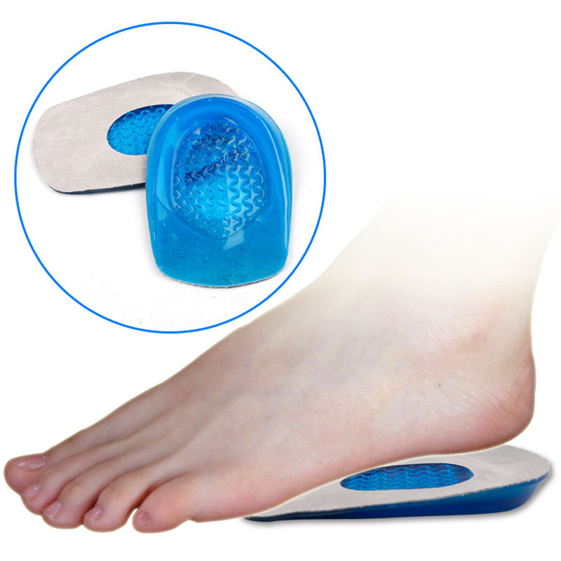 1Pair Feet Pute Gel Foot Heel Halv Innersåpe Sko Pad Foot Care Verktøy Soft Silicone Increase Heel Support Pads Orthotic Innersåle