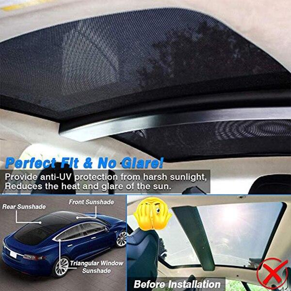 Model S: Glasdach Sonnenschutz*
