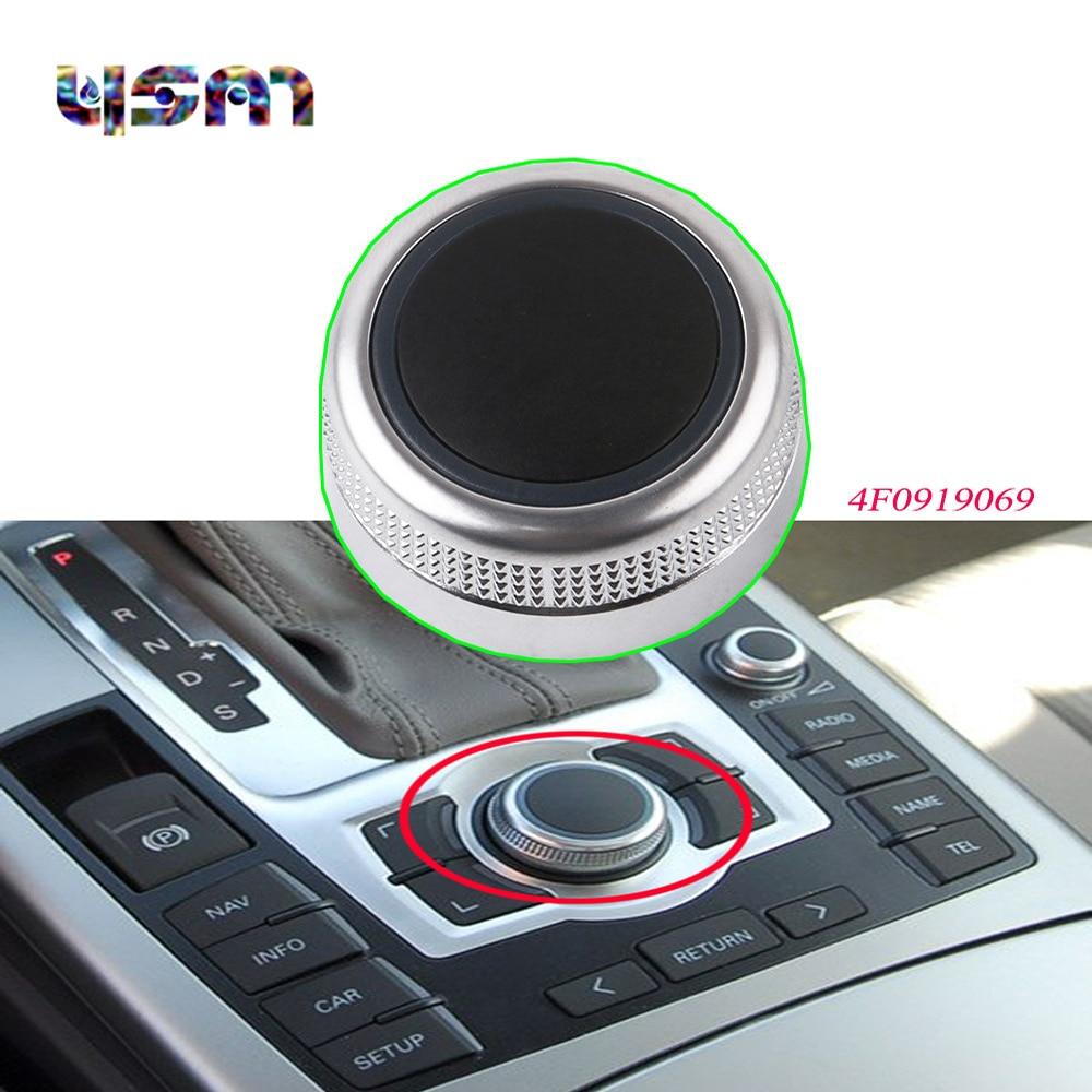 New MMI Multimedia Knob Menu Switch Cover For AUDI A6 Allroad Quattro S6 C6 A8 Q7 4F0919069 4F0 919 069 radiator cooling fan relay control module for audi a6 c6 s6 4f0959501g 4f0959501c