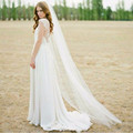 2016 Cheap 2M Cut Edge White Long Bridal VeilsOne Layer Cheap Comb 1T Wedding Veils with Comb 2017