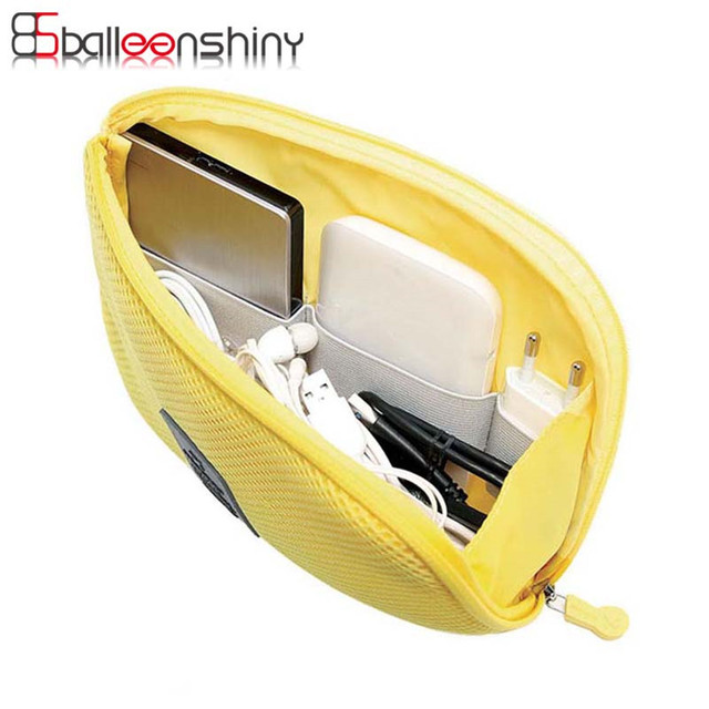 BalleenShiny Shockproof Travel Digital Storage Bag Portable Digital USB Cable Charger Earphone Cosmetic Pouch Storage Organizer