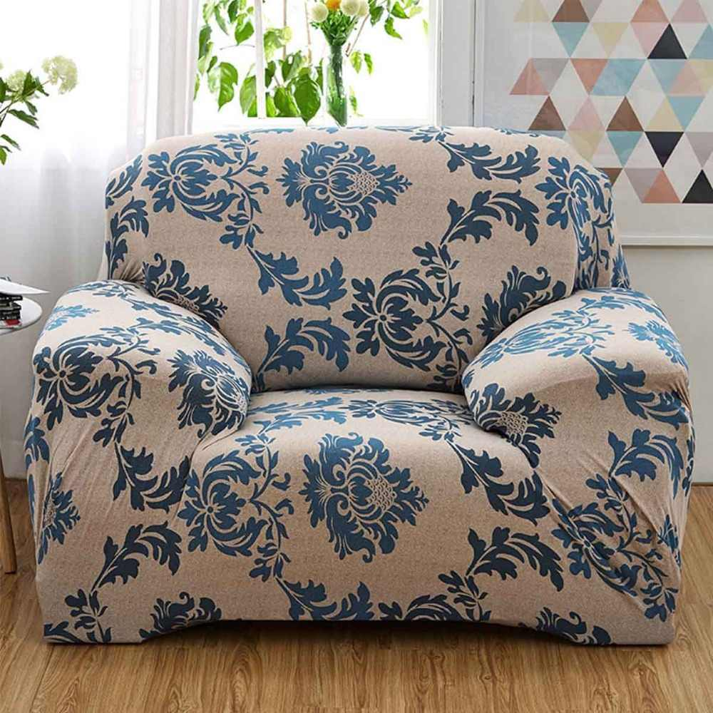 1/2/3/4 Seater Sofa Cover Chair Couch Protect Loveseat Slipcover Stretch  Elastic For Living Room Sofa Cover
