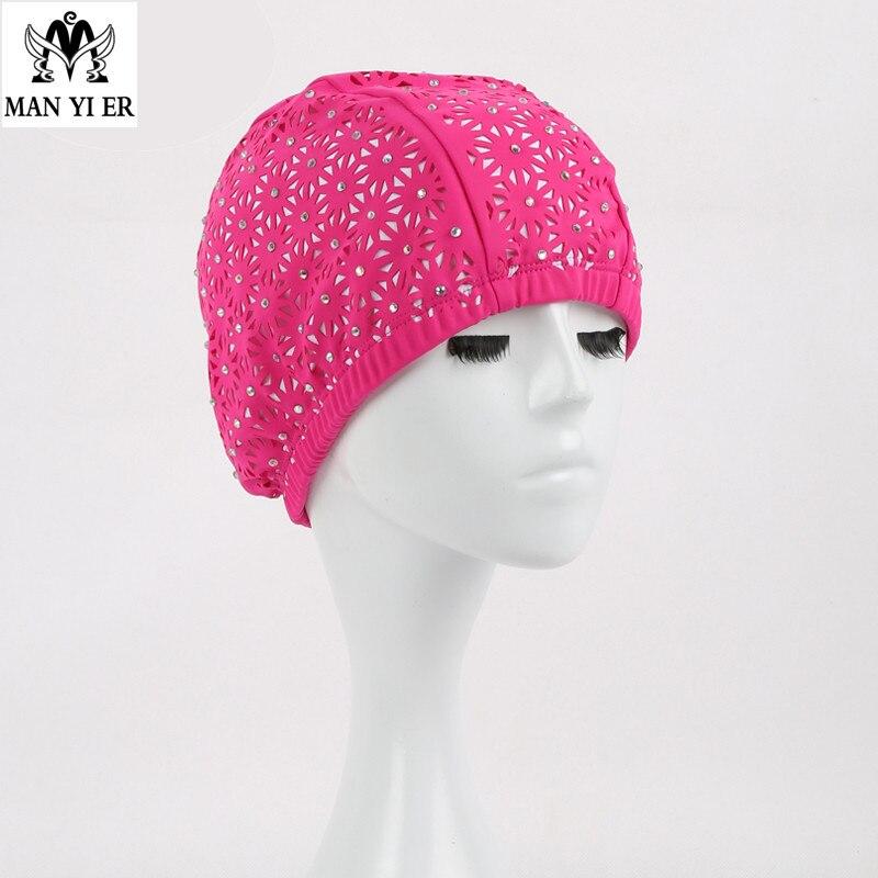 Nueva Marca natación caps flores mujeres swime gorra arriba adulto natación marc
