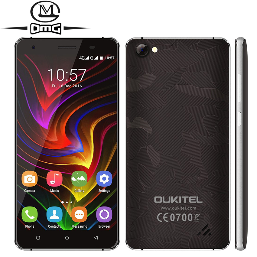 Original Oukitel C5 PRO Android 6 0 MTK6737 Quad Core Mobile Phone 2G RAM 5 0