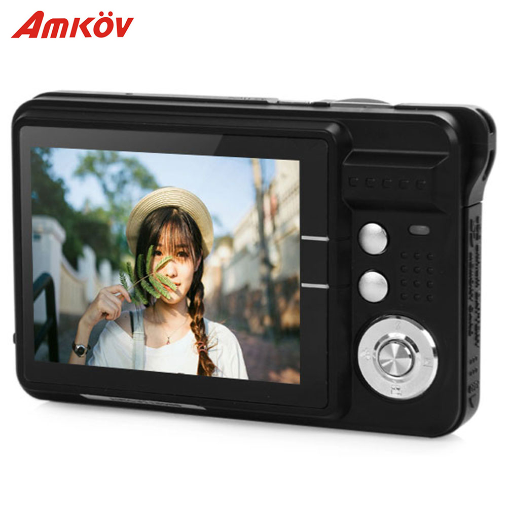 Amkov CDC3 2 7 Inch TFT HD Screen 18 0MP CMOS 3 0MP Anti shake 1080P