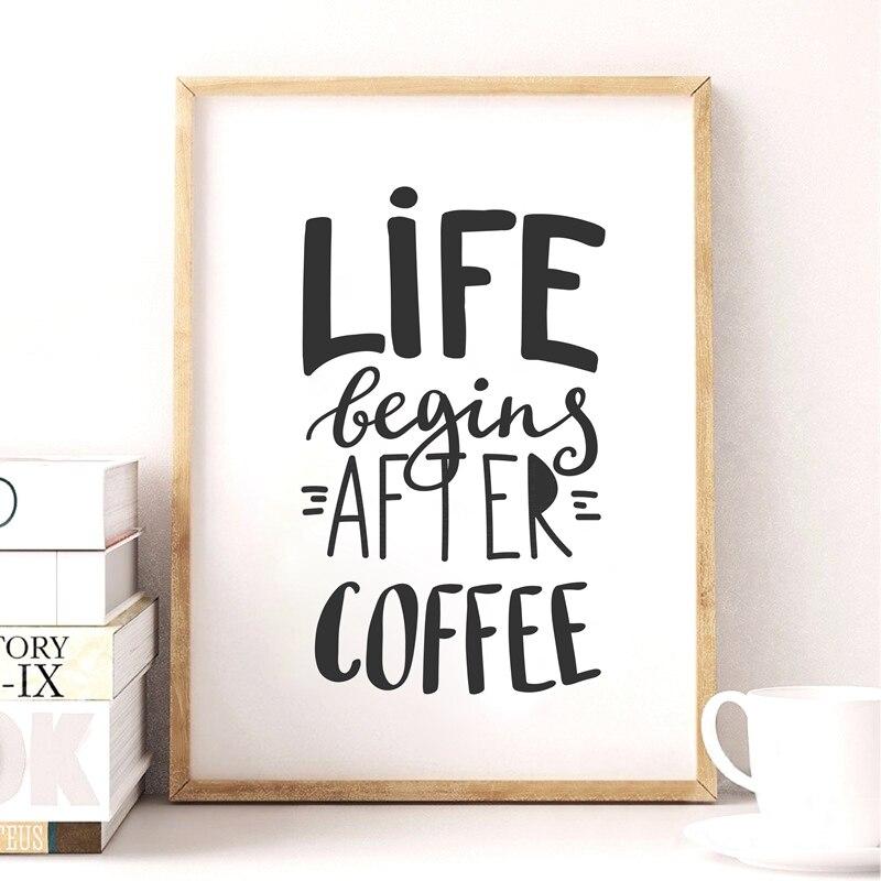 Citaten Koffie English : Koffie citaat canvaskunst poster eenvoudige stijl muur foto s voor