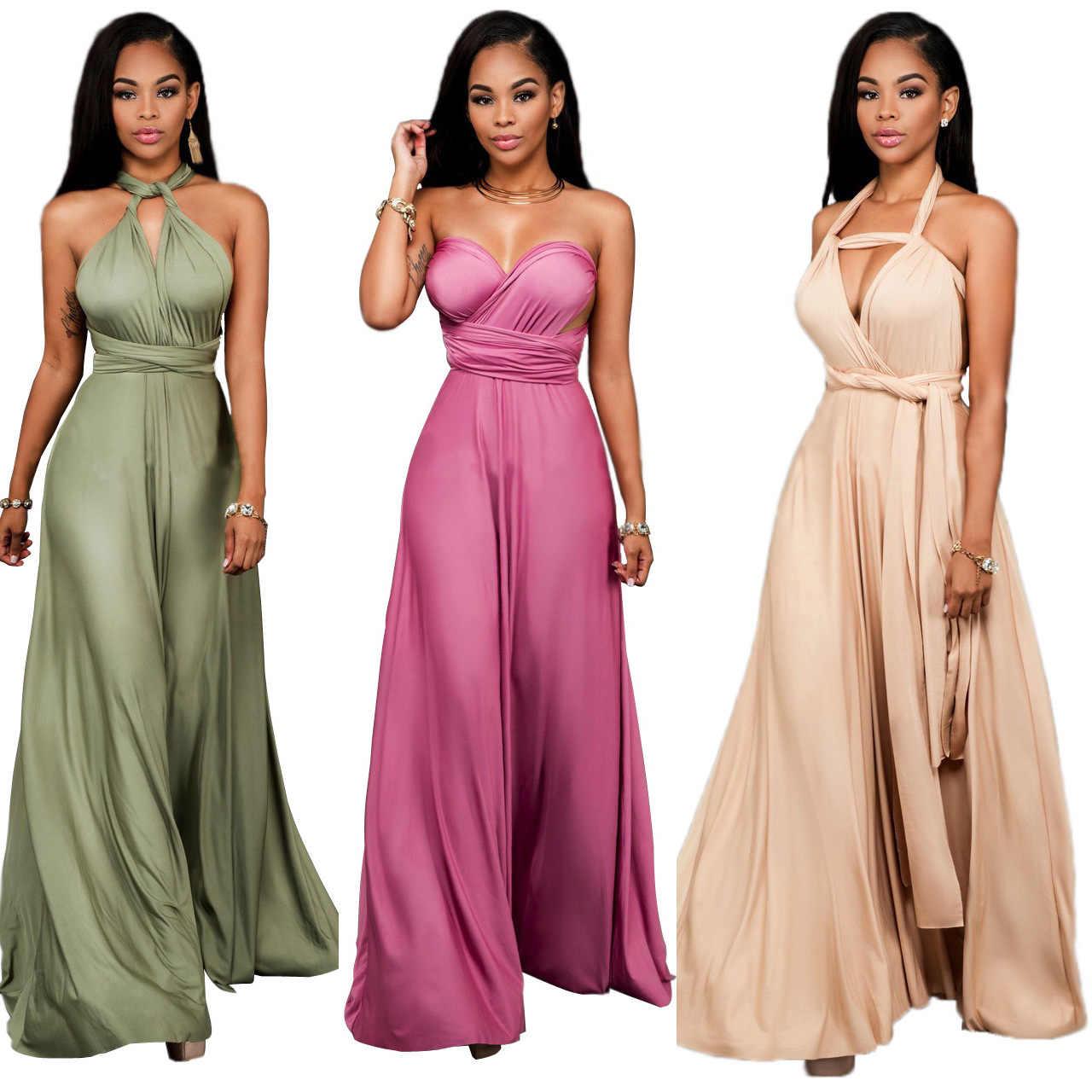 635f5e10a0 Women evening long dress elegant Formal Maxi dress Multi Way Wrap  Convertible Infinity dresses Strapless Plus Size Vintage Dress
