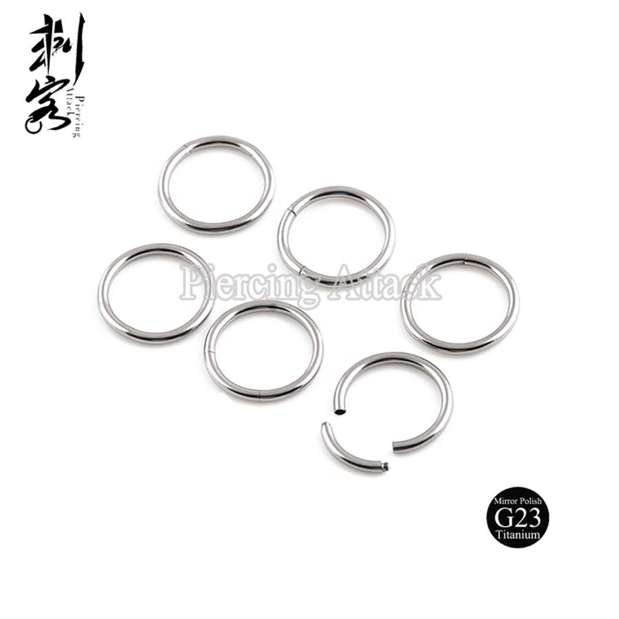 G23 Titanium Body Jewelry Highly Polished 14 Gauge Titanium ...