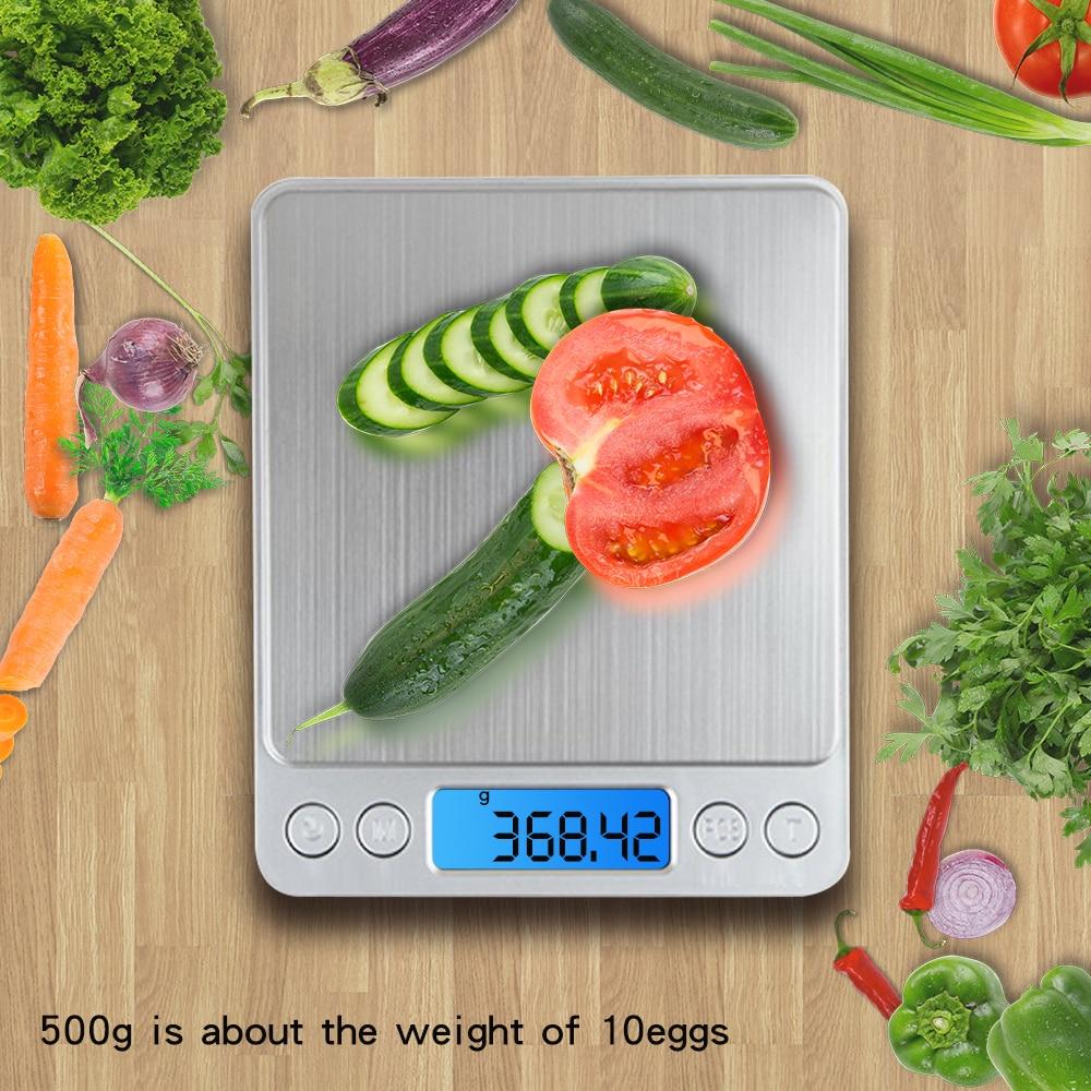 500g * 0.01g Escala digital de precisión de bolsillo Gram Plataforma - Instrumentos de medición - foto 5