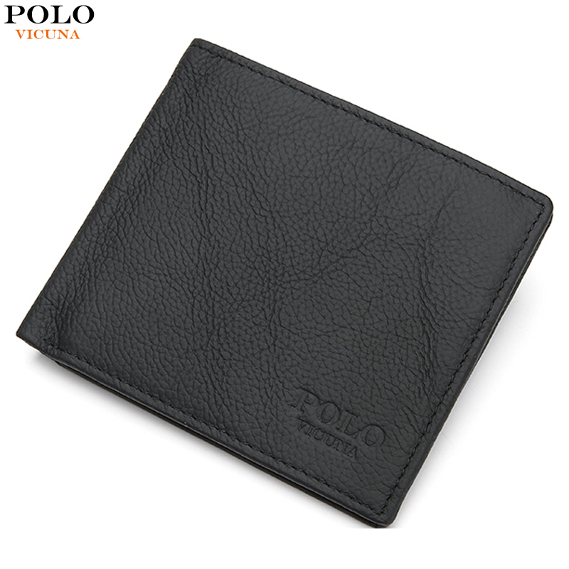 VICUNA POLO RFID Blocking Genuine Leather Men Wallet Casual Men's Purse With Large Capacity Money Clip Male Short Fashion Wallet vicuna polo italy famous brand men wallet high quality pu leather trifold wallet large capacity short metal wallet for man