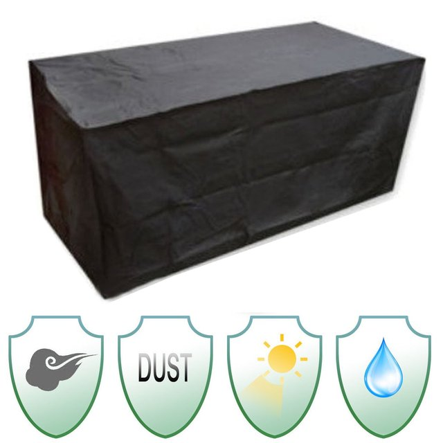 Outdoor Patio Furniture Cover Sofa Chair Polyester + PVC Coated Garden  Patio Table Desk Waterproof Black
