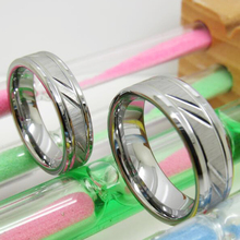 New Fashion Wedding Rings Silvevr Color Craved Pattern Tungsten Carbide Womens Anniversary Engagement