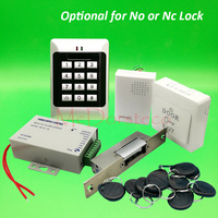 DIY Full Keypad Rfid Door Access control system Yli YS131 NArrow Type No NC Electric Strike Lock +Power supply+exit button