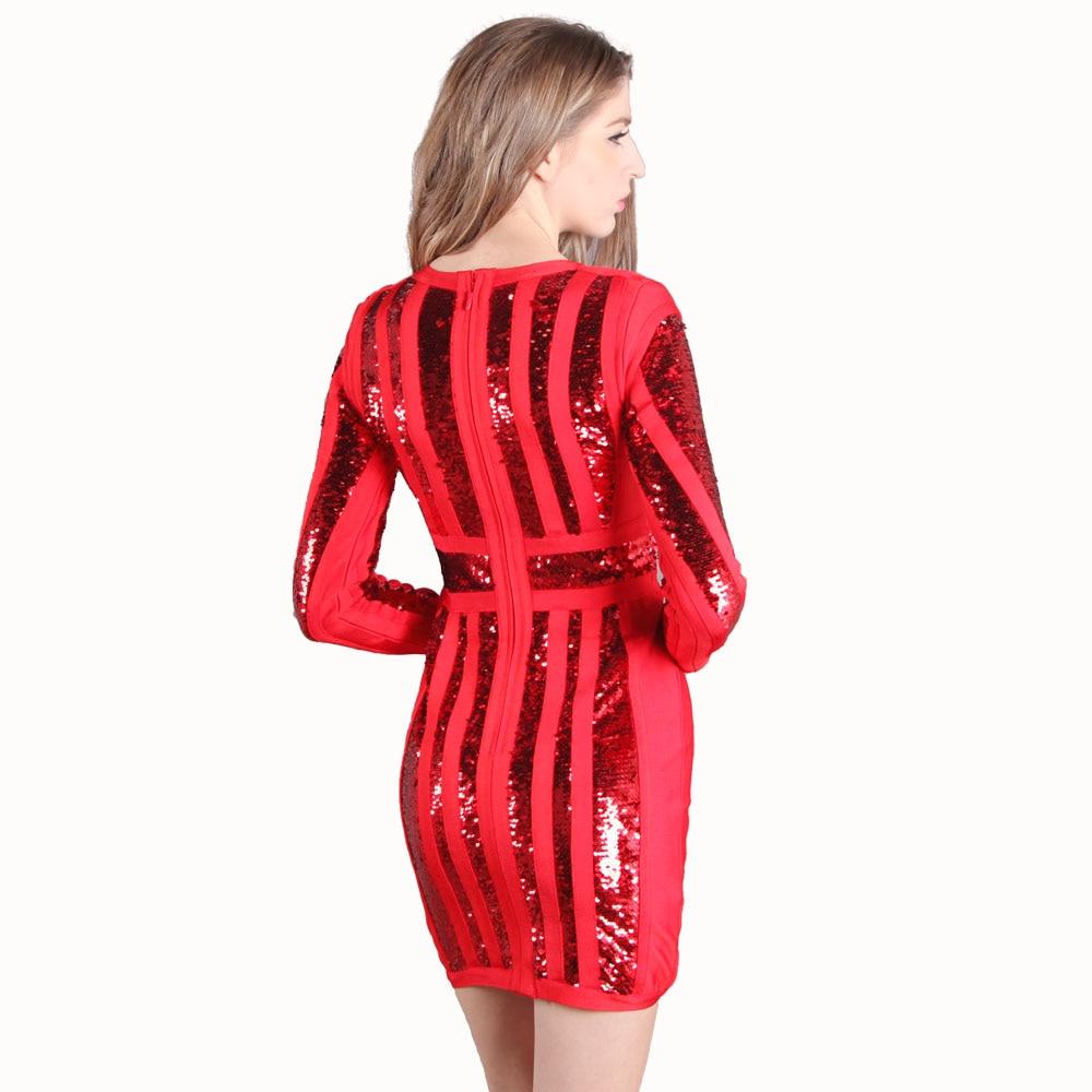 a10215fddc0 Longues Manches Seamyla Moulante Nouvelle Club À Automne Celebrity Apricot Robe  Robes 2018 Sexy Mini Femmes Rayé Paillettes noir Party Vestiodos rouge ...