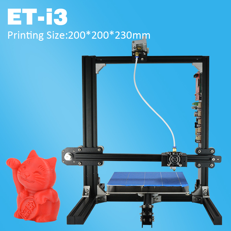 2017 Newest Fast Assemble Easy Use High-Quality 3D Printer DIY Kit for Education Personal for Children Teaching Free Gifts