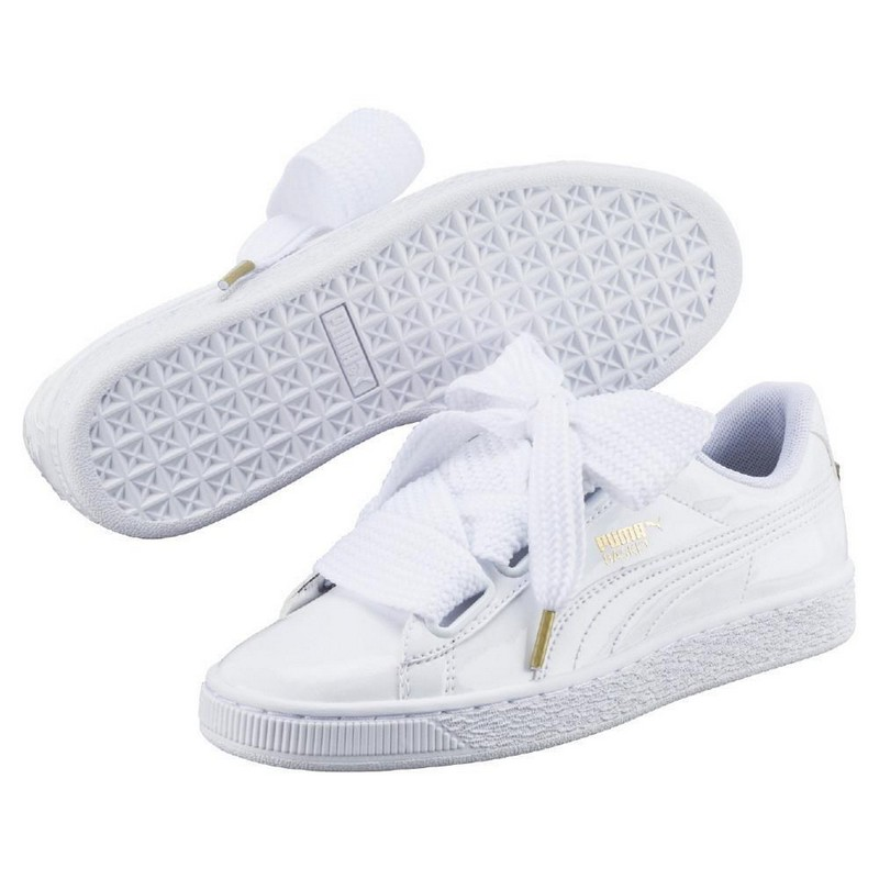 Фото - Walking Shoes PUMA Basket Heart Patent Wn's 36307302 sneakers for female TmallFS kedsFS shiny gold pointed toe high heel basic pumps for women 2018 black court shoes sliver patent leather stiletto heels ladies shoes