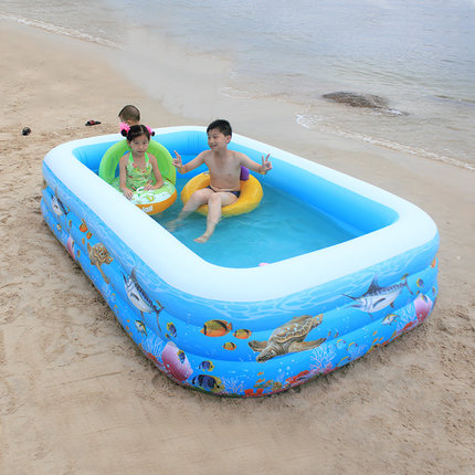 US $74.97 37% OFF|Household inflatable swimming pool inflatable pool baby  big children and children baby bath barrel portable rubber inflatable-in ...