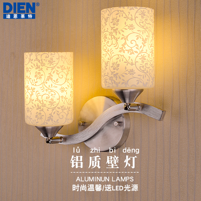 Modern minimalist led double wall lamp bedside lamp bedroom living room lamps warm aisle corridor lamp Restaurant the art of creative personality of modern minimalist living room bedroom aisle led bedside lamps wall lamp porch wall lighting