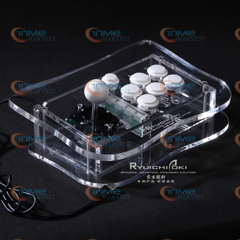 цена на The game pro joystick with Sanwa buttons and the sanwa joystick and button USB,PC, PS3 Arcade rocker with fighting game feelling