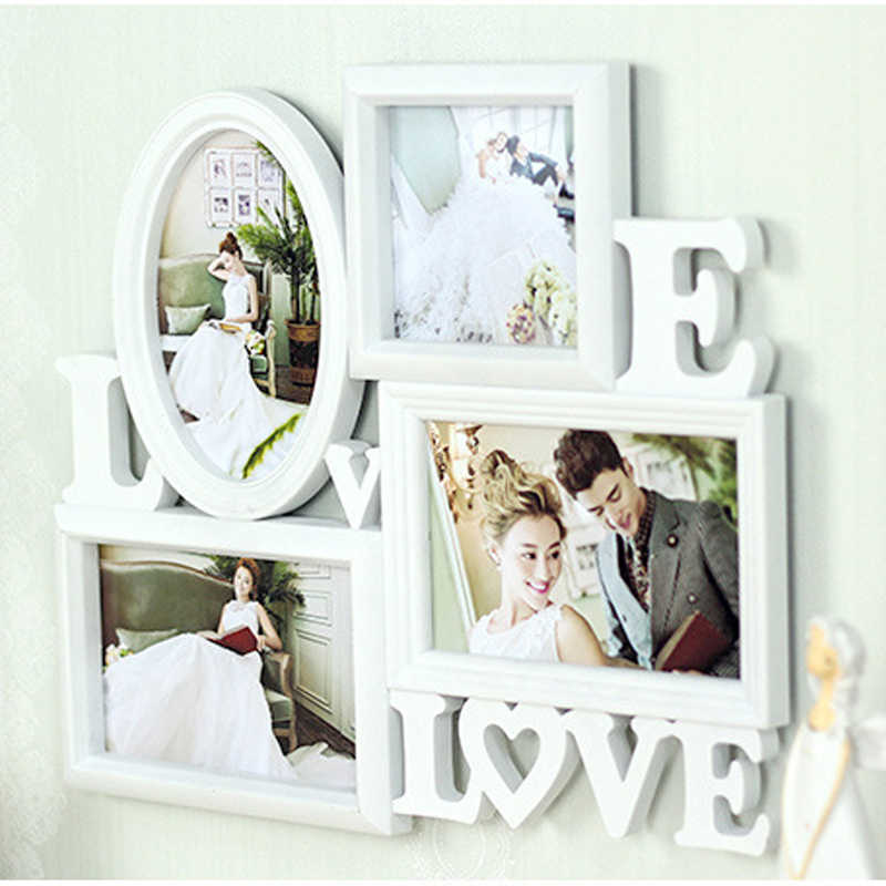 HOME Collage Table Frame 4 Openning Photo Picture Frame for Photo Studio Home Decoration Wedding Home Decor