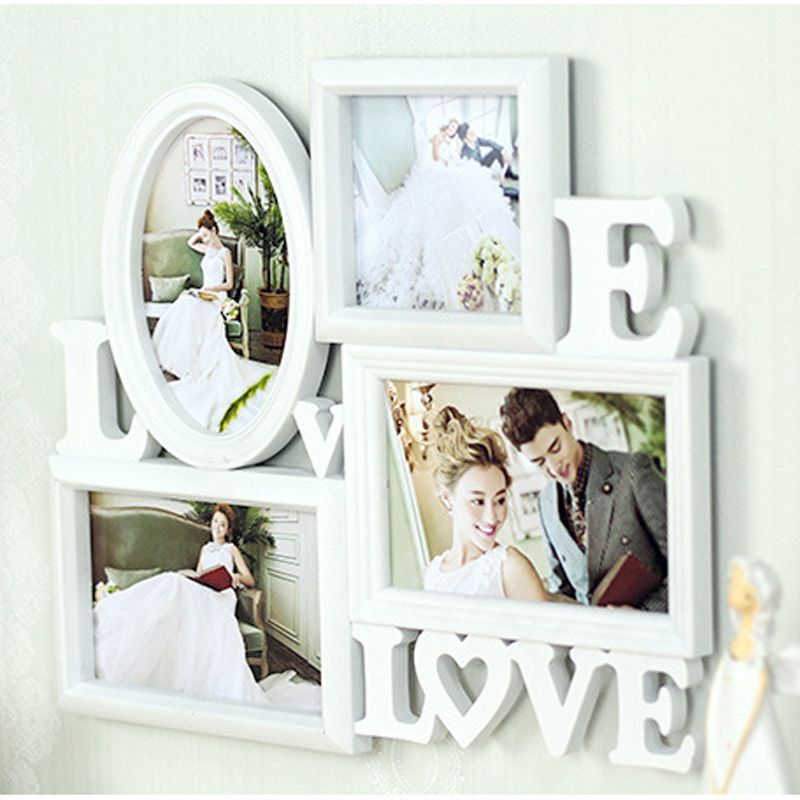 HOME Collage Table Frame 4 Openning Photo Picture Frame for Photo Studio Home Decoration Wedding Home Decor ...