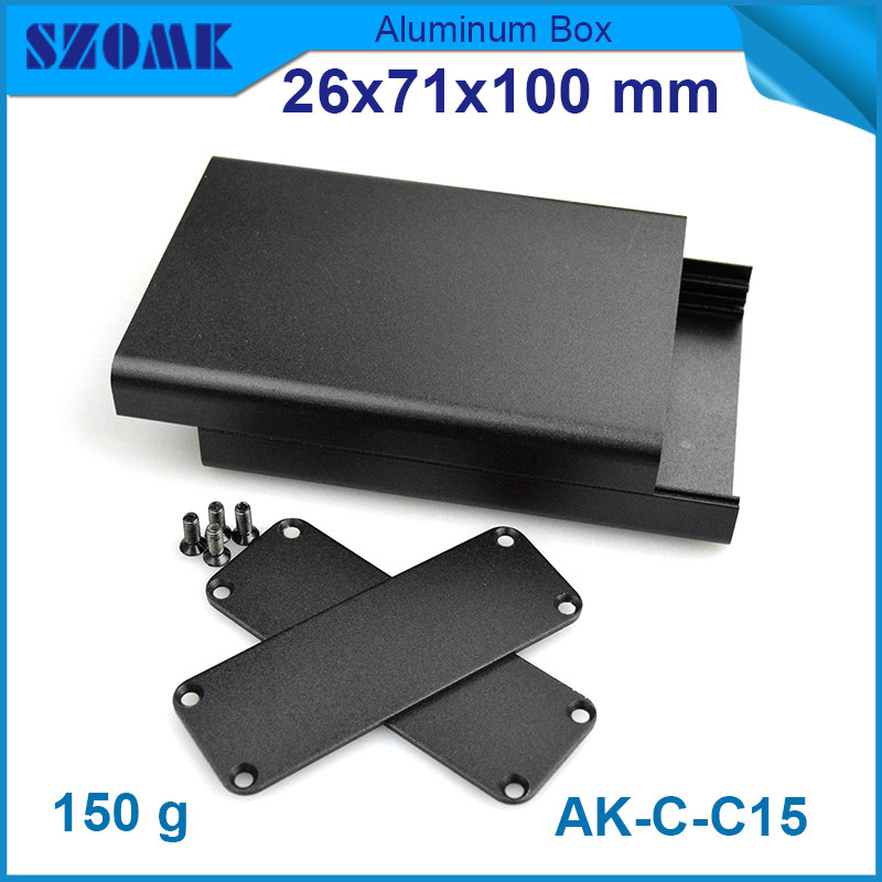 10pcs lot aluminium outlet enclosure box project case for GPS tracker with powder coating 26 71