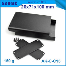 10pcs/lot aluminium outlet enclosure box project case for GPS tracker with powder coating 26*71*100mm