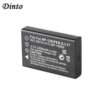 Dinto 1pc 2200mAh 3.7V NP-120 NP 120 NP120 FNP-120 FNP120 Battery for FUJIFILM F10 F11 ZOOM for BP-1500S D-LI7 DB-43 Batteries image