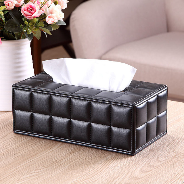 PU Leather Durable Household Napkins Papers Dispenser Holder Creative Tissue Case Box For Home Office Car FP8