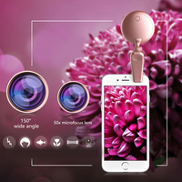 led warm RK19S LED Selfie Flash Light Fill Light Warm&Cold Bulbs With Wide Angles Fisheye Marcro Lens 360 Rotation For iPhone X/8 Phones (2)