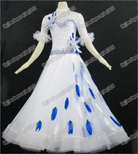 chicken featherModern Waltz Tango Ballroom Dance Dress, Smooth Ballroom Dress,Standard Ballroom Dress Girls B-0005