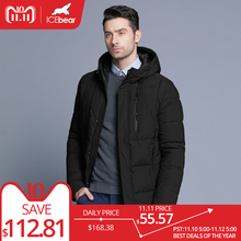 ICEbear 2018 new winter men s jacket simple fashion hooded coat knit cuff design male s