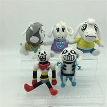 5 styles Anime Undertale Sans Papyrus Asriel Toriel Temmie Frisk Chara Undyne Stuffed Doll Plush Pendant