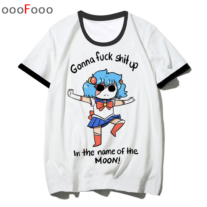 sally face t shirt salli face top tee shirts hip hop man tshirt O-Neck t-shirt male/women streetwear cartoon Unisex image