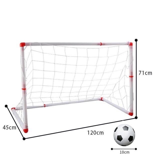 120cm Large Size Portable Folding Children Football Net Door Sports Toys for Children gift Set Football Gate Soccer Inflator