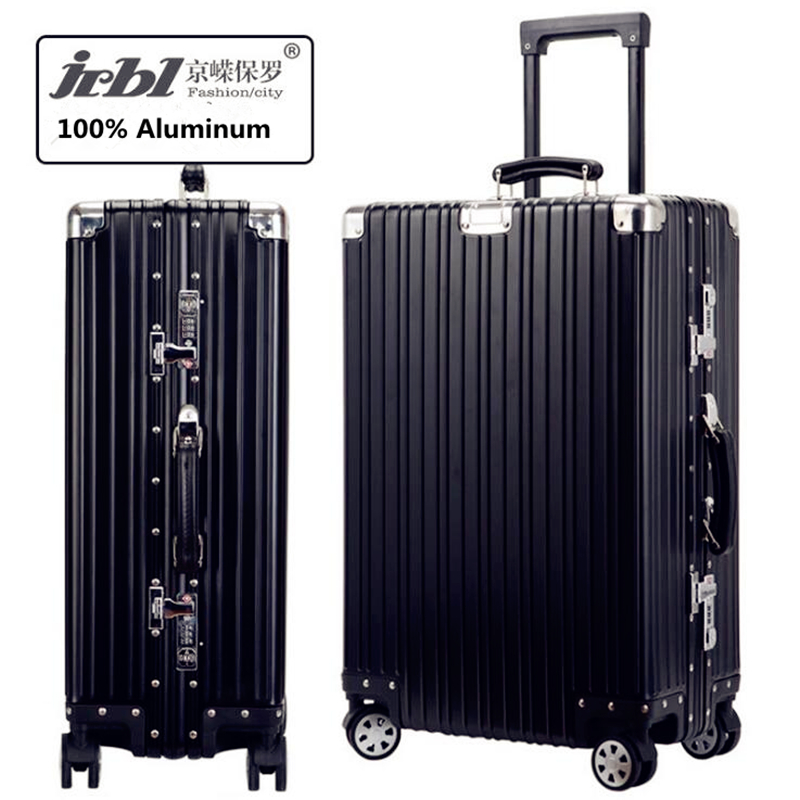 Pelican Full Aluminum Spinner Rolling Luggage Suitcase Men Bussiness Trolley Bag Valise Top Quality Female Travel Box 24/29inch top quality trolley luggage bags storage box suitcase bag men travel large capacity pc pull rod trunk women waterproof rolling