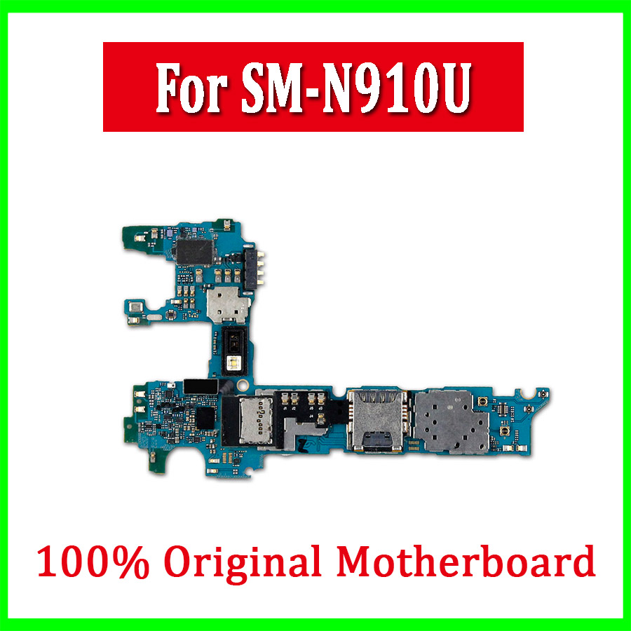 Free Shipping,Original unlocked for Samsung Galaxy Note4 N910U Logic Board Motherboard high quality with Android OS system